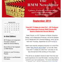 Rochester Movie Makers Newsletter